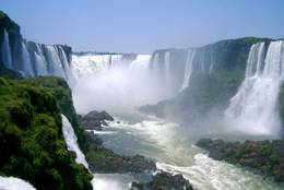 A detail of the extensive Iguazu Falls