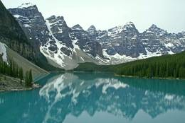 Lake Annette in the Jasper National Park in Alberta