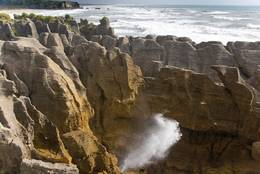 Pancake Rocks in New Zealand