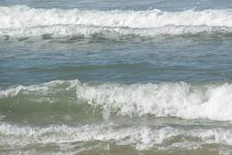 Waves observed from the beach