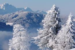 Central Switzerland in winter